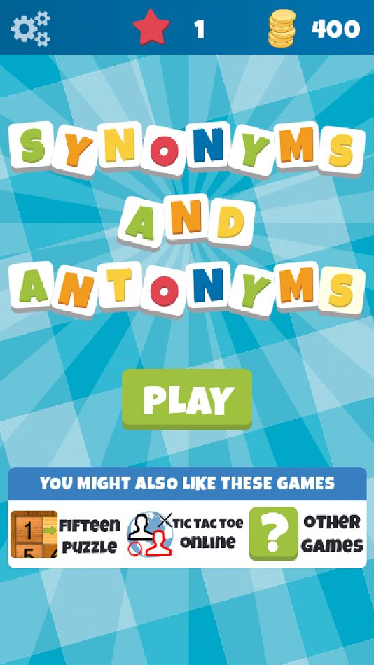 Synonyms & Antonyms- Word Game Review - Daikon Media | The