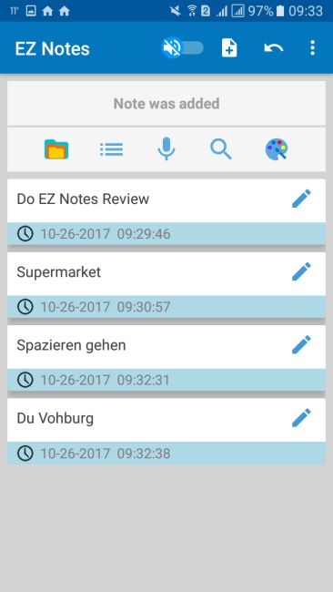 EZ Notes Screenshot