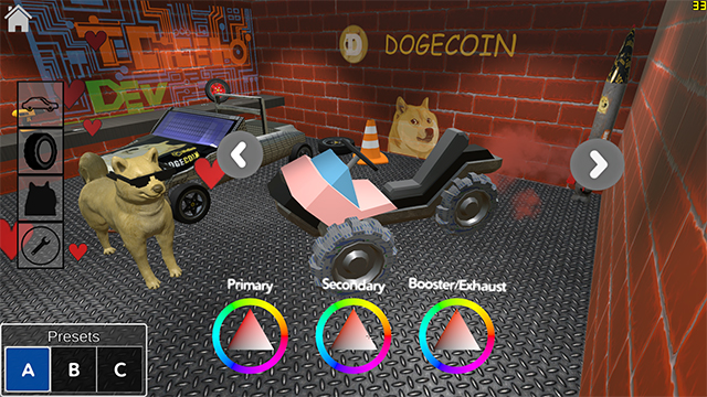 Doge Racer Garage